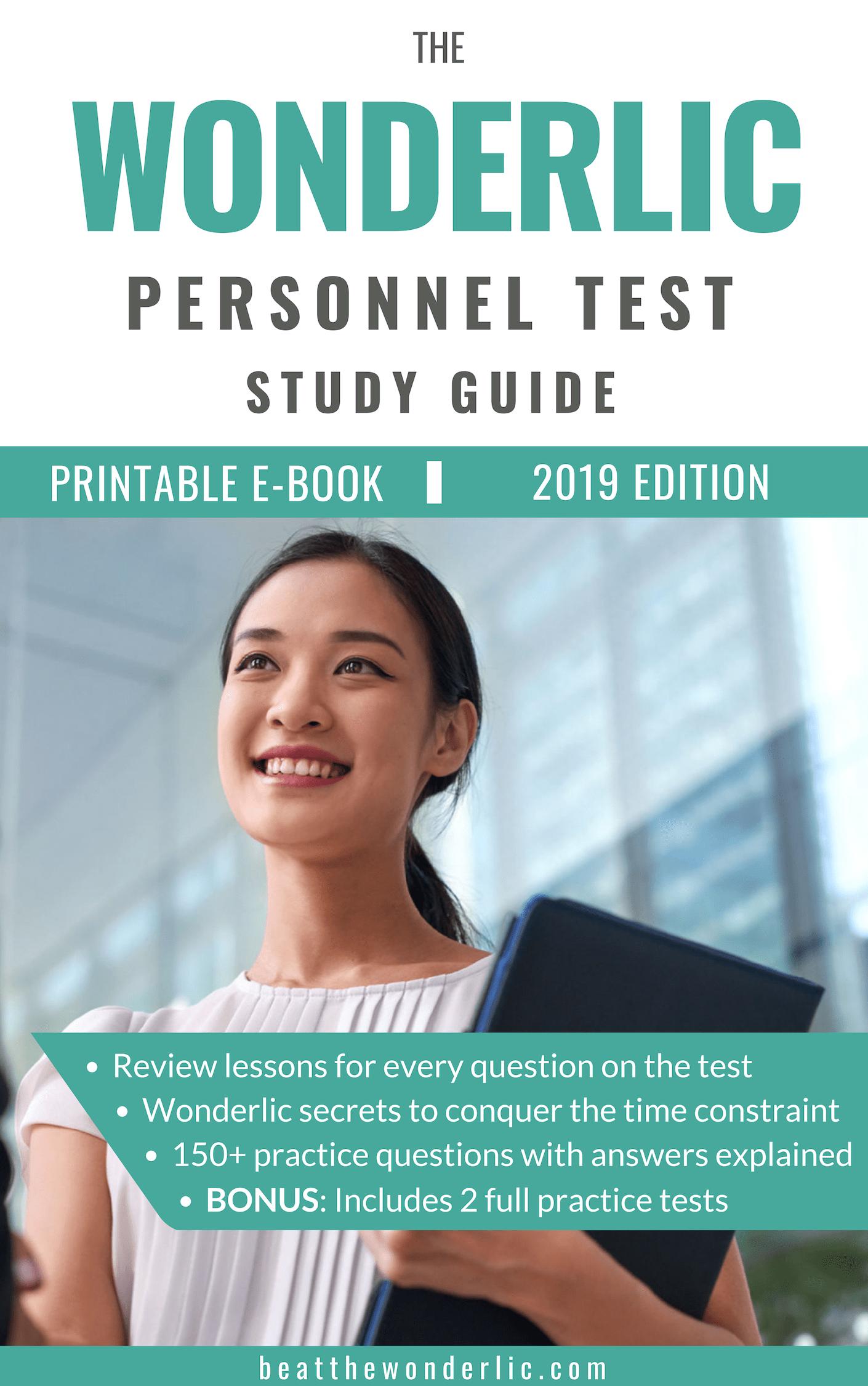Wonderlic Personnel Test Study Guide